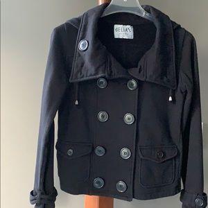 Delia's Short Double Breasted Pea Coat Jacket SZ M